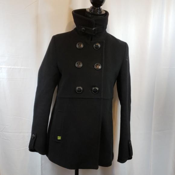 Soia & Kyo Black Wool  Pea coat size M